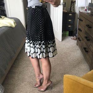 ELLE Ruffled Polka Dot Skirt